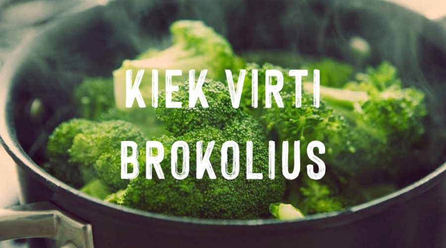 Kaip ir kiek laiko reikia virti brokolius